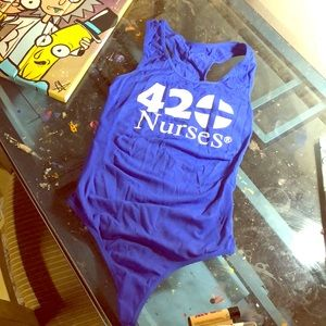 Other - 420 Themed- Dodger Blue- Thong BodySuit 💙